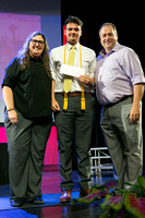 DJ D'Angelo holds the Florida Association of the Deaf Scholarship at the 2018 FSDB Senior Awards.