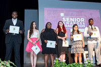 Wallace Burrell, Angie Rembis, Perrii Lee, Shavannah Davis, Jacque Gutierrez, and Ernest Bristol receive scholarships from the St. Augustine Lions Club at the 2018 FSDB Senior Awards.