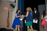 Lauren Santiago receives a scholarship from the St. Augustine Lions Club at the 2018 FSDB Senior Awards.