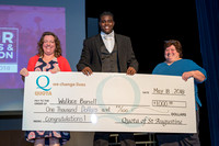 Wallace Burrell receives $1,000 scholarship from Quota International at the 2018 FSDB Senior Awards.