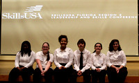 FSDB students sit on stage at the SkillsUSA competition