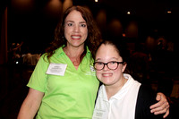 FSDB teacher Andrea Armstrong and student Milliken at the SkillsUSA competition
