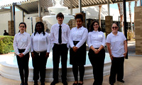 FSDB students stand in front of fountain during SkillsUSA competition